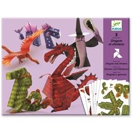 Djeco - Vikta Pappersfigurer - Drakar