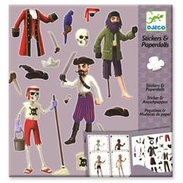 Djeco - Klistermärken - Pirates