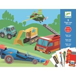 Djeco - Paper Toys - Trucks