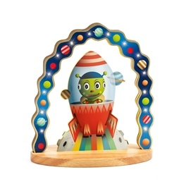 Djeco - Nattlampa - Wooden Night Light - Mister Zinzin