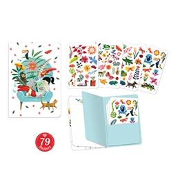 Djeco - Sarah Stickers Notebook (79 pcs)