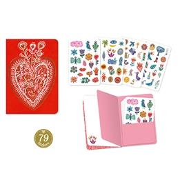 Djeco - Aurelia stickers notebook (79 pcs)