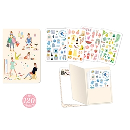 Djeco - Tinou Stickers Notebook (120 pcs)