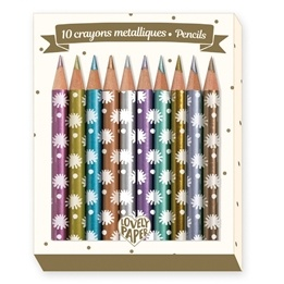 Djeco - Pennor - Mini Metallic Pencils Chichi