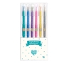 Djeco - 6 glitter gel pens