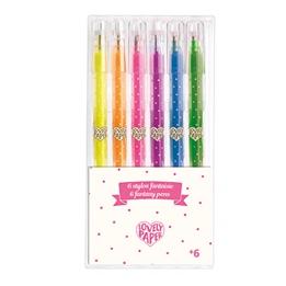 Djeco - 6 Neon Gel Pens