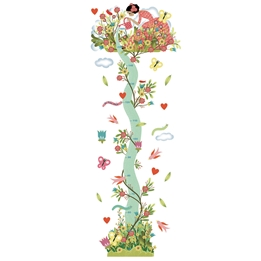 Djeco - Height chart - Young girl in the garden