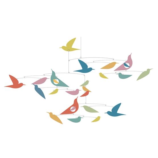 Djeco - Mobil Multicolored Birds