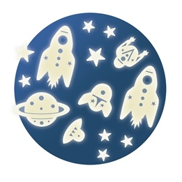 Djeco - Wall Sticker - Mission Space