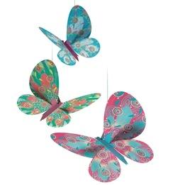 Djeco - Hängdekor- Lightweights, Glitter Butterflies