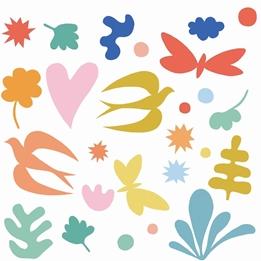 Djeco - Klistermärken - Wall Sticker Colored Fantasy