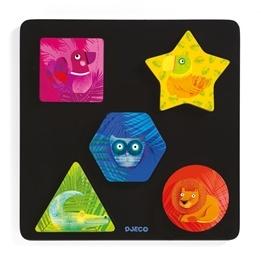 Djeco - Relief Puzzle - Geochic