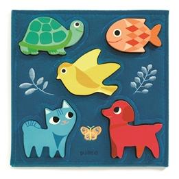 Djeco - Pussel - Reliefpuzzle, Gataki, 5 pcs