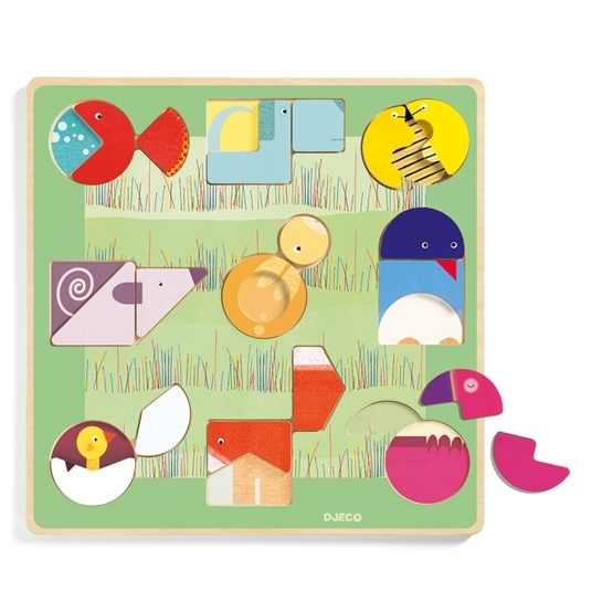Djeco - Wooden Puzzle - Ludiform