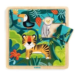 Djeco - Pussel - Wooden Puzzle Jungle 15 pcs