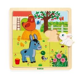 Djeco - Pussel - Puzzlo Farm 15 pcs