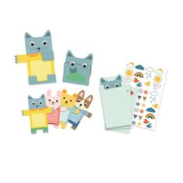 Djeco - Inbjudningskort Cuddly Toys 8 st