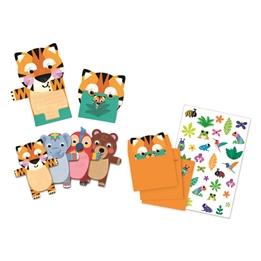 Djeco - Inbjudningskort Wild Animals 8 st