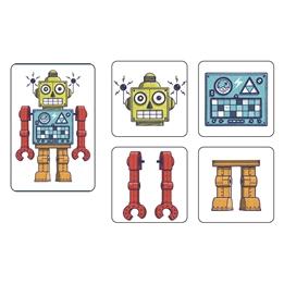 Djeco - Spel - Mémo Robots