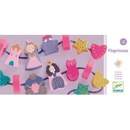 Djeco - Träpärlor - Prinsesstema