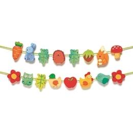 Djeco - Träpärlor - Trädgårdsmotiv
