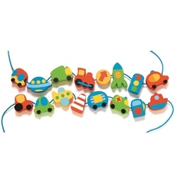 Djeco - Träpärlor - Fordon
