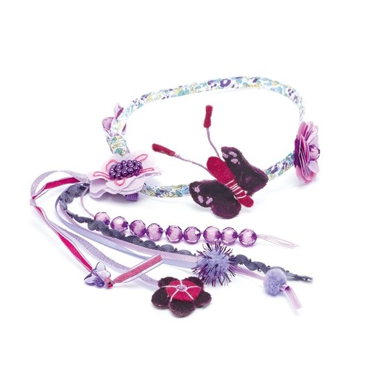 Djeco - Hair Jewel - Flowers And Butterflies