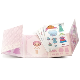 Djeco - Klistermärken - Miss Lilypink - Stickers Removable