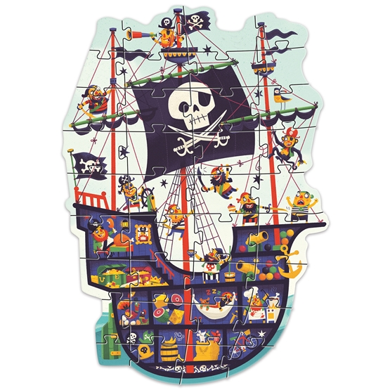 Djeco - Pussel - The pirate ship - 36 pcs