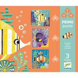 Djeco - Pussel - Fishes - 9 pcs, 12 pcs and 16 pcs