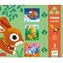 Djeco - Pussel - Rabbits - 3 - 4 - 5 Pcs