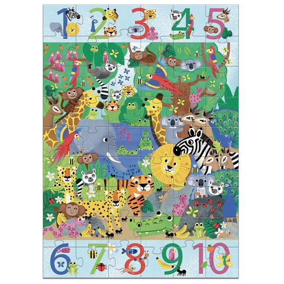 Djeco - Pussel - 1 to 10 Jungle - 54 pcs