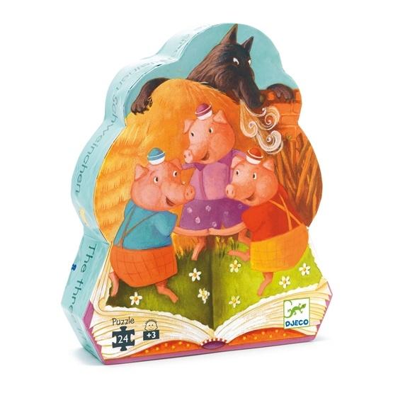 Djeco - Pussel - De Tre Små Grisarna