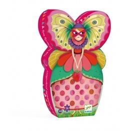 Djeco - Siluettepussel - Butterfly Lady