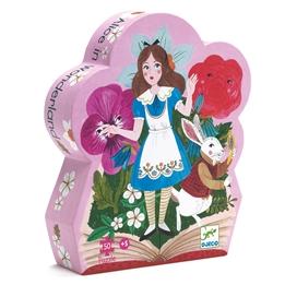 Djeco - Pussel - Siluettepussel Alice In Wonderland 50 pcs