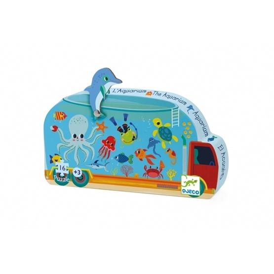 Djeco - Pussel - Siluettepussel - Aquarium