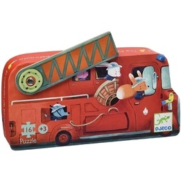Djeco - Siluettepussel - Fire Truck