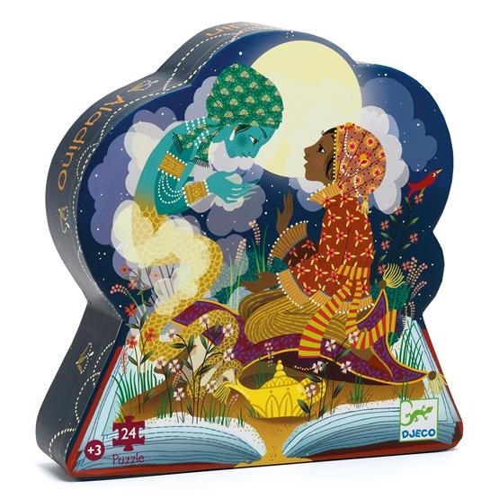 Djeco - Pussel - Siluettepussel Aladin 24 pcs