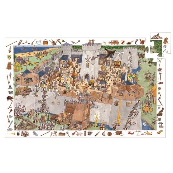 Djeco - Pussel - Slottskampen - 100 Bitar