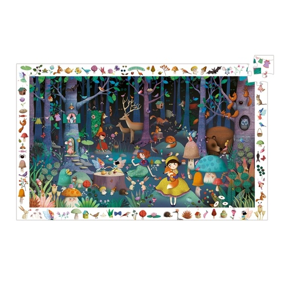Djeco - Pussel - Observation Puzzle - Enchanted Forest