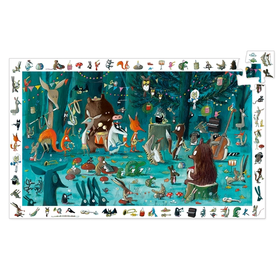 Djeco - Pussel - Observation Puzzle, The Orchestra, 35 pcs