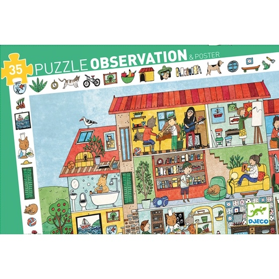 Djeco - Pussel - Observations Puzzle - The House