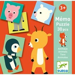Djeco - Spel - Memo Animo Puzzle
