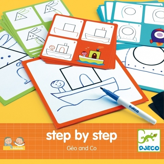 Djeco - Måla - Step By Step - Geo And Co