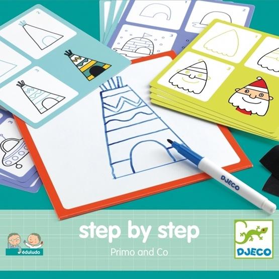 Djeco - Måla - Step By Step - Primo