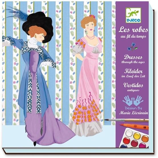 Djeco - Färglägg Vackra Klänningar