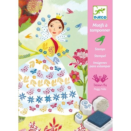 Djeco - Stämpelset - Blommor