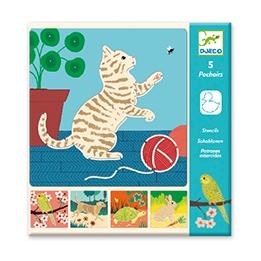 Djeco - Stencils Cute Companions