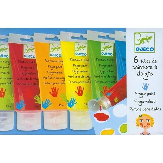 Djeco - Fingerfärg - 6 Färger