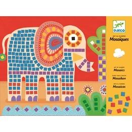 Djeco - Skapa Bilder Med Mosaik - Elefant